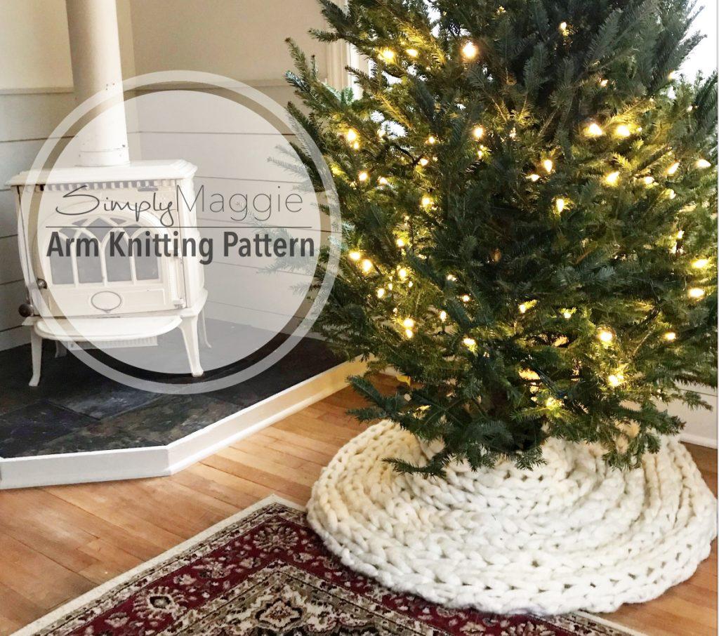 Arm Knit Christmas Tree Skirt Pattern Simplymaggie Com